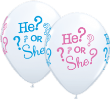 He or She - 11 Inch Balloons 25pcs